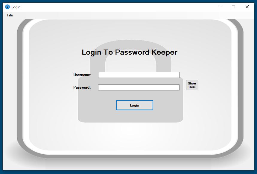 Password Keeper screenshot